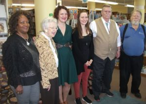 Isle of Wight Legacy of Writers Celebration. Pictured are authors Claudia Newby-Tynes, Doris Gwaltney, S.A. Borders-Shoemaker, W. Michael Farmer, and Donald Knowlton.