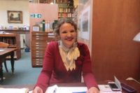 woman in old library, owning your story